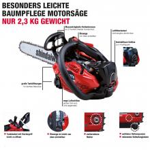 Motorsäge Shindaiwa 251Ts Leichte Baumpflege-Motorsäge UVP: 515,- EUR