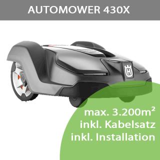 Mähroboter Husqvarna Automower 430X (max. 3.200m²) inkl. Installation bis 1.500m²