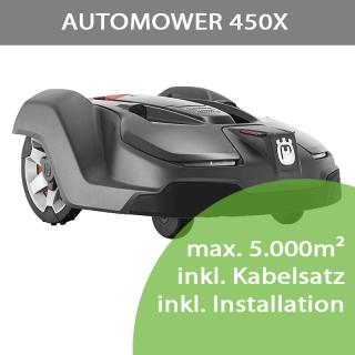 Mähroboter Husqvarna Automower 450X (max. 5.000m²) inkl. Installation bis 2.500m²