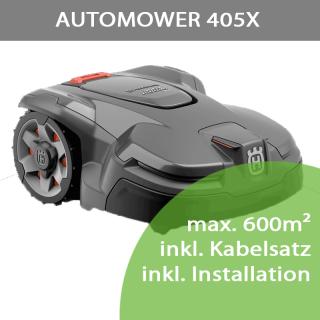 Mähroboter Husqvarna Automower 405X (max. 600m²) inkl. Installation bis 300m²