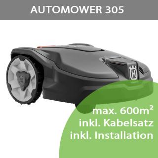 Mähroboter Husqvarna Automower 305 (max 600m²)  inkl. Installation bis 300m²